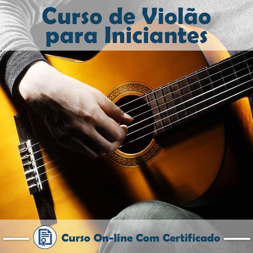 Curso online em videoaula sobre Violão - Básico com Certificado