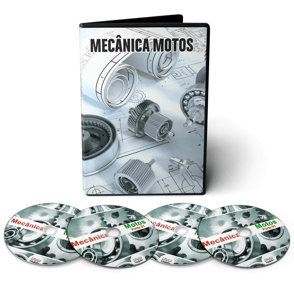 Curso sobre Mecânica de Motos em 05 DVDs Videoaula + DVD com Apostilas Digitais