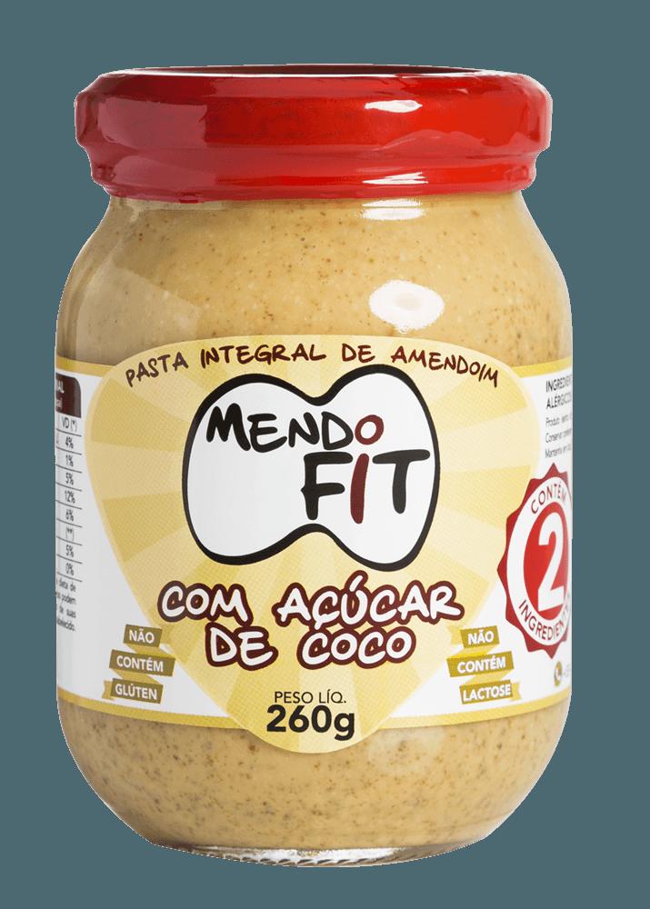 Pasta de amendoim Mendo Fit com açúcar de coco 260g