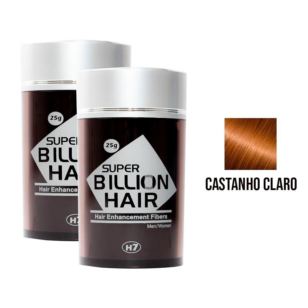 Kit 02 Maquiagem pra Calvície Billion Hair - Cast Claro 25g