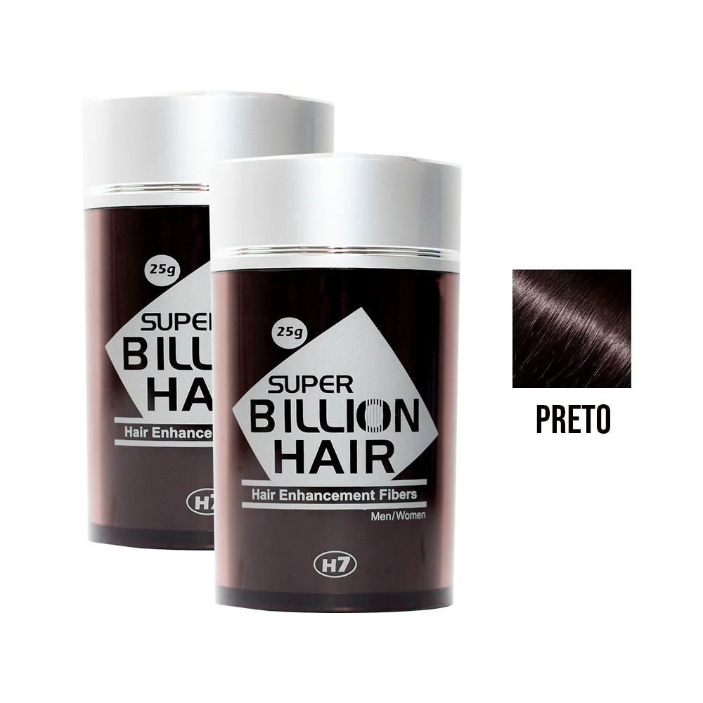 Kit 02 Maquiagem pra Calvície Billion Hair - Preto 25g