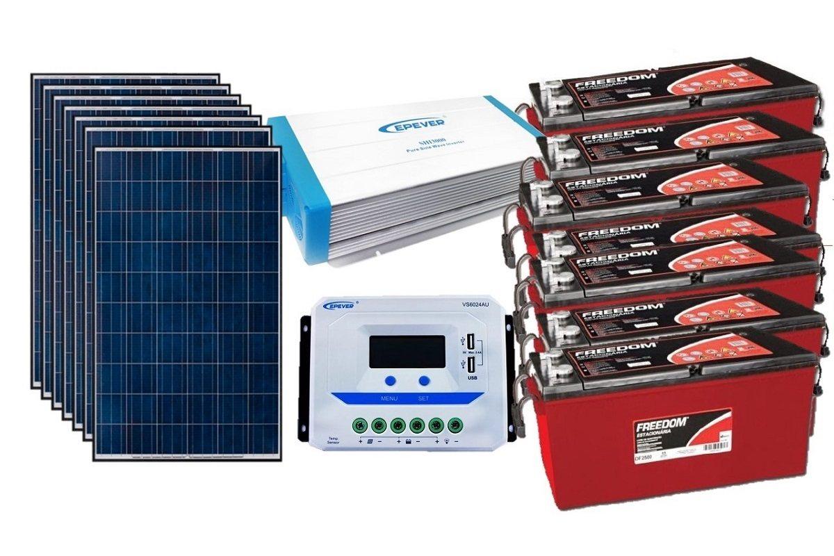 Kit Gerador de Energia Solar 1050Wp - Gera até 3045Wh/dia