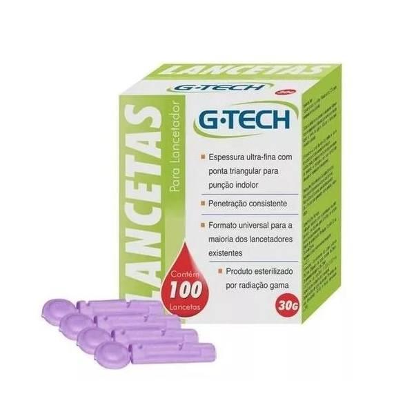 Lancetas Glicose G-tech 100 Unidades