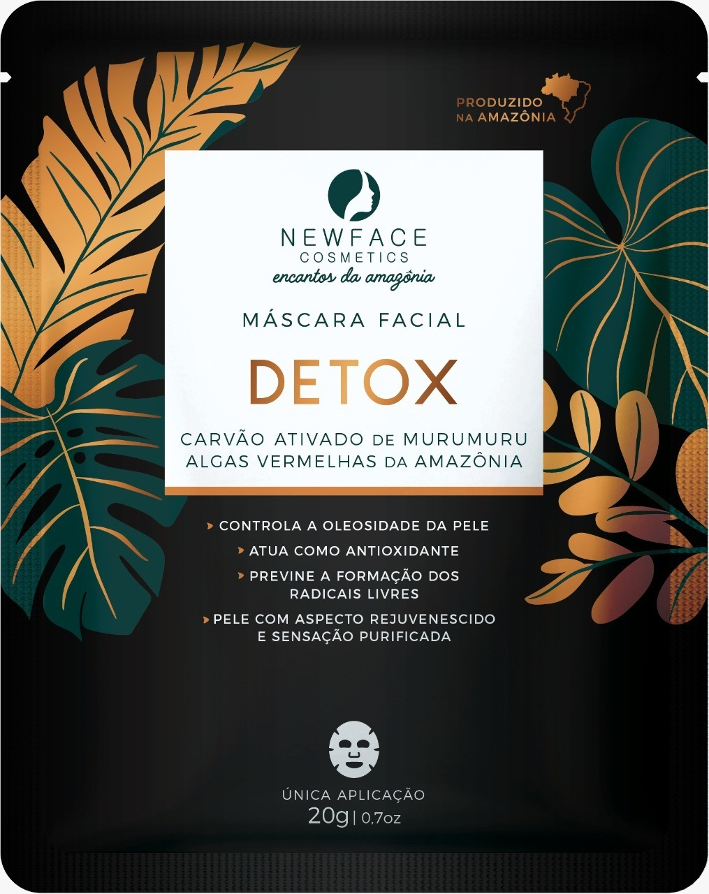 Máscara Facial Detox - New Face Cosmetics