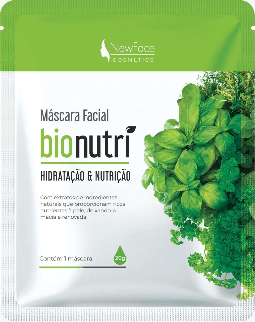 Máscara Facial Hidratação e Nutrição Bionutri