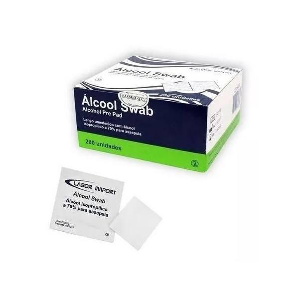 Swab Alcool 70% Assepsia Hospitalar Labor 200 Unidades