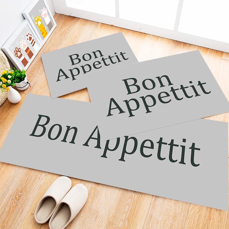 Tapete Cozinha Bon Gray, 3 pçs - 40x120cm
