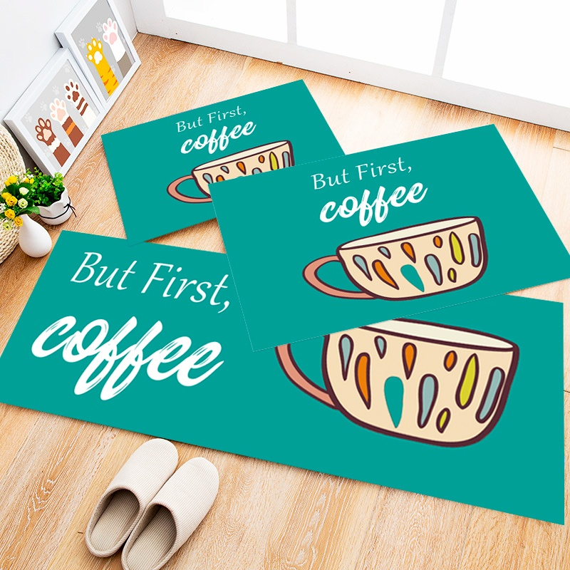 Tapete Cozinha Coffee Cool, 3 pçs - 40x120cm