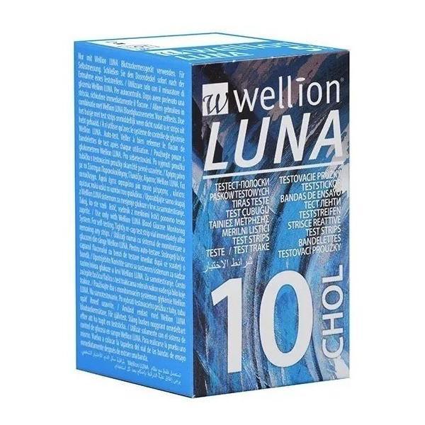 Tiras Teste Colesterol P/ Monitor Luna Duo Wellion 10und