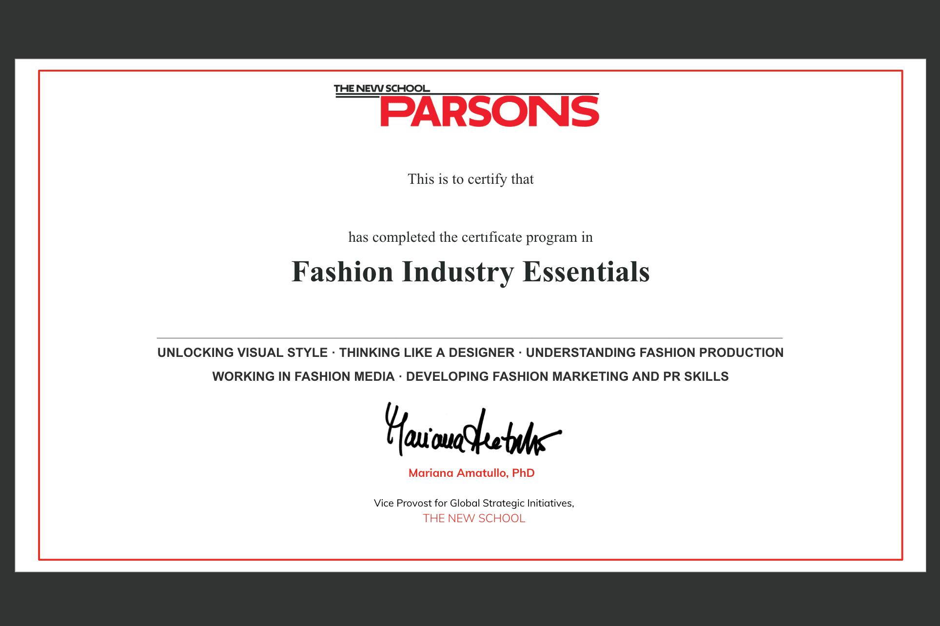 Parsons X Teenvogue Fashion Industry Essentials Yellowbrick