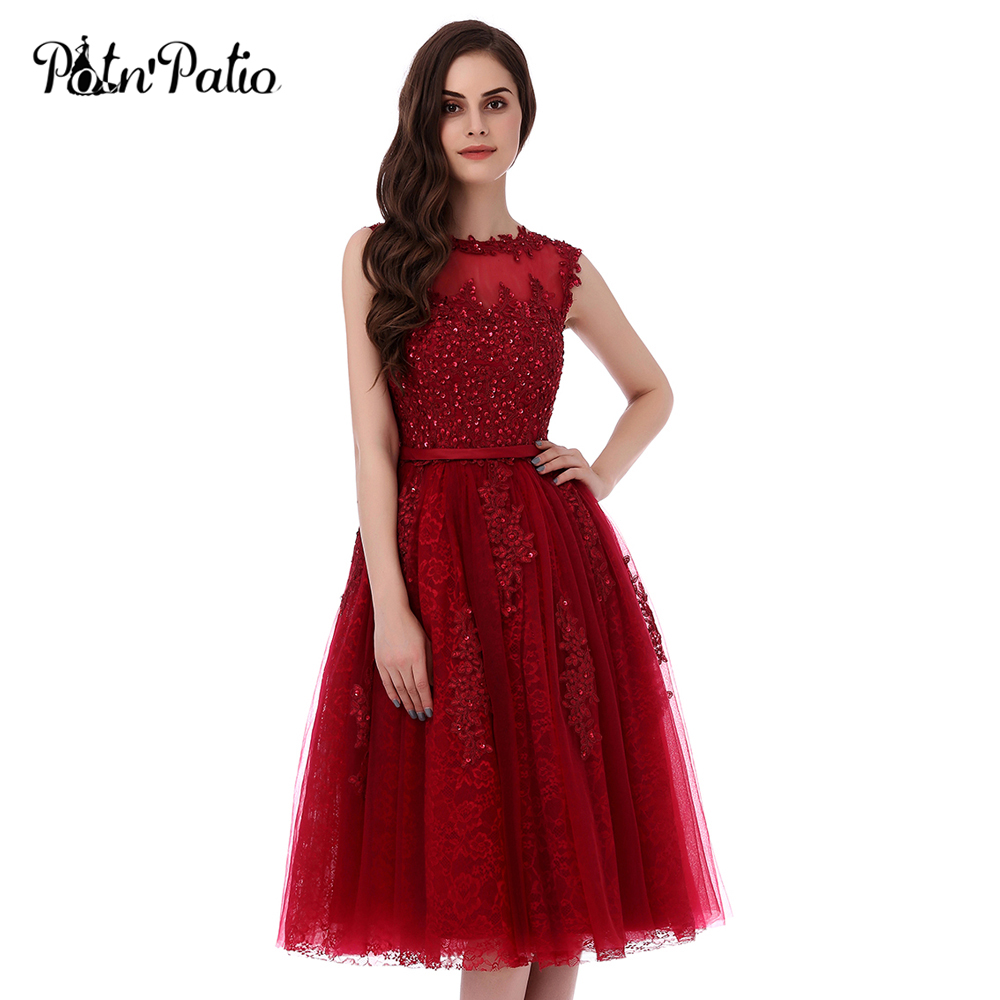 PotNu0027Patio High Quality 6 Layers Luxury Appliques And Beading Elegant Short  Prom Dresses 2017