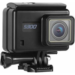SOOCOO 4K 30FPS Action Camera 16MP WiFi Waterproof Sports Camera S300 2.35″ LCD Touchscreen 170 Degree Video Cam Wide-Angle Lens Bluetooth Remote Control/2 Batteries/Travel Bag-Black