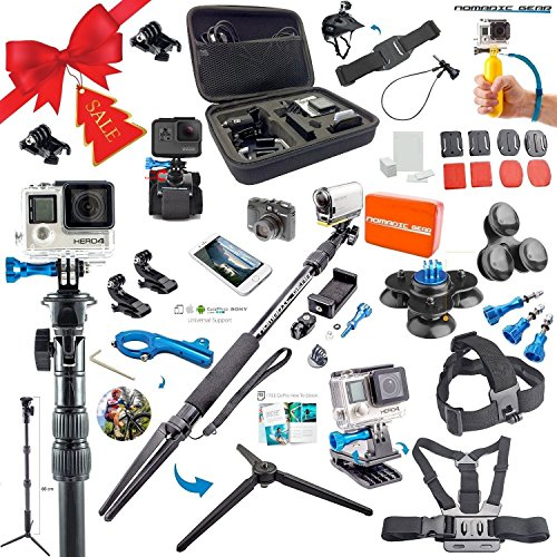 nomadic gear 55 in 1 action camera accessories kit for gopro sony action - Nomadic Gear 55-in-1 Action Camera Accessories Kit for GoPro, Sony Action Camera, Garmin, Ricoh Action Cam, SJCAM, iPhone and Android   Epic Photo Shooting 101 ebook