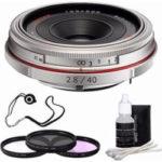 pentax hd pentax da 40mm f28 limited lens silver 3 piece filter kit  150x150 - Pentax DA 40mm f/2.8 XS Lens
