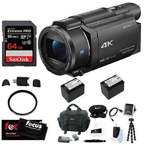 sony fdr ax53 uhd 4k handycam camcorder deluxe bundle - Sony FDR-AX53 UHD 4K Handycam Camcorder (Deluxe Bundle)