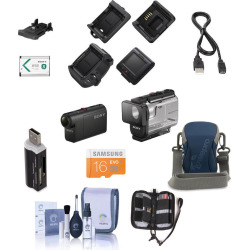 Sony Hdr-As50 Full Hd Action Cam W/Rm-Lvr3 Live View Remote W/Free Accessories – Yes Premium Bundle Green