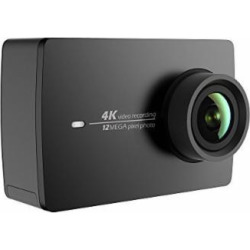 YI 4K Action and Sports Camera, 4K/30fps Video 12MP Raw Image with EIS, Live Stream, Voice Control – Black
