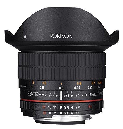 Rokinon 12mm F2.8 Ultra Wide Fisheye Lens for Canon EOS EF DSLR Cameras – Full Frame Compatible
