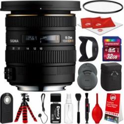 Sigma 10-20mm F3.5 EX DC HSM Lens for Pentax DSLR Cameras w/ 32gb Pro Photo and Travel Bundle