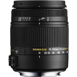 Sigma 18-250mm F3.5-6.3 DC OS HSM IF Lens for Nikon with Optical Stabilizer