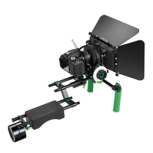 IMORDEN IR-04 Shoulder Support Rig Video Making/Filmmaking Dual Handle Kit w/ 1kg Counterweight(2pcs), M3 Matte Box, F4 Follow Focus, Gear Ring Belt and Z-shped Rod Raiser for DSLR Camera: Canon, Sony