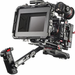 JTZ DP30 JL-JS7 Camera Cage Rig with 15mm Rail Rod Baseplate and Top Handle+Shoulder Pad and Electric Handle Grip+Follow Focus+Matte Box+C5 Version Power Supply for SONY A6000 A6300 A6500 Dslr Cameras