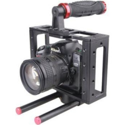 GOWE Aluminum DSLR camera Cage Rig top handle 15mm rod rig for canon EOS 5D 7D
