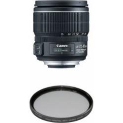 Canon EF-S 15-85mm f/3.5-5.6 IS USM UD Standard Zoom Lens for Canon Digital SLR Cameras Filter Bundle