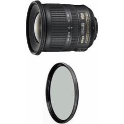 Nikon 10-24mm f/3.5-4.5G ED Auto Focus-S DX Nikkor Wide-Angle Zoom Lens for Nikon Digital SLR Cameras w/ B+W 77mm XS-Pro HTC Kaesemann Circular Polarizer