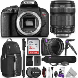canon eos rebel t7i dslr camera with 18 135mm lens w advanced photo and - Canon EOS Rebel T7i DSLR Camera with 18-135mm Lens w/ Advanced Photo and Travel Bundle