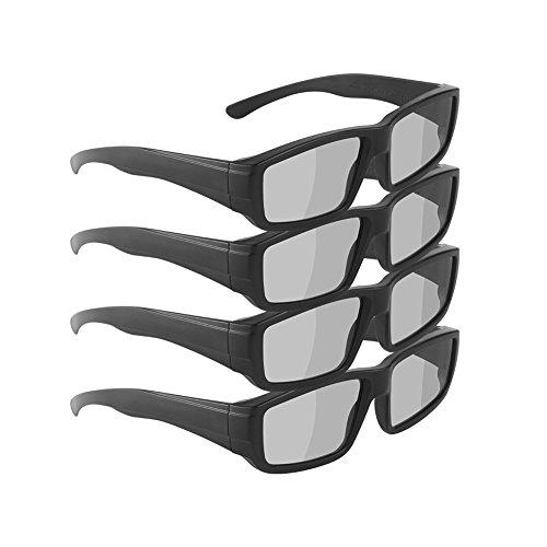 SOUBUN Unisex Passive 3D Glasses for LG, Panasonic, Toshiba, & more Passive 3D TVs for Watching Movies – Family Pack– New Polarized Lenses for Better Eye Protection (4 Pack)