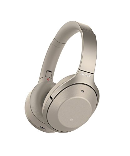 Sony Noise Cancelling Headphones WH1000XM2: Over Ear Wireless Bluetooth Headphones with Case – Gold