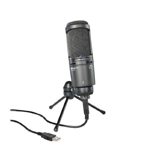 audio technica at2020usb cardioid condenser usb microphone black - Audio-Technica AT2020USB+ Cardioid Condenser USB Microphone, Black
