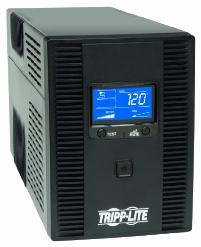 tripp lite 1500va 900w ups battery back up avr lcd display - Tripp Lite 1500VA 900W UPS Battery Back Up, AVR, LCD Display, Line-Interactive, 10 Outlets, 120V, USB, Tel & Coax Protection (SMART1500LCDT)