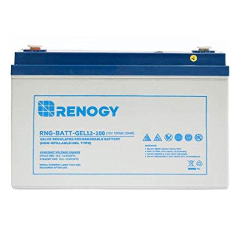 renogy rng batt gel12 100 deep cycle pure gel battery 12v 100ah - Renogy RNG-BATT-GEL12-100  Deep Cycle Pure Gel Battery 12V 100Ah