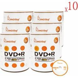 smartbuy 47gb120min 16x dvdr logo top blank data video recordable media - Smartbuy 4.7gb/120min 16x DVD+R Logo Top Blank Data Video Recordable Media Disc (6000-Disc)