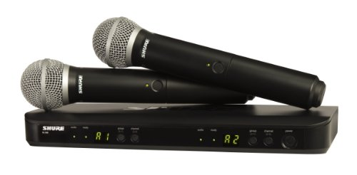 shure blx288pg58 wireless vocal combo with pg58 handheld microphones j10 - Shure BLX288/PG58 Wireless Vocal Combo with PG58 Handheld Microphones, J10