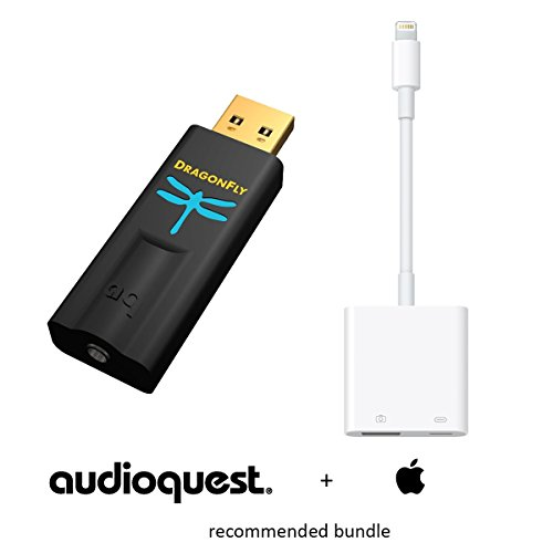 apple audioquest preferred bundle dragonfly black v15 usb preamp - Apple & AudioQuest Preferred Bundle: DragonFly Black v1.5 (USB Preamp, Headphone Amp & DAC) and Apple Lightning to USB 3 Camera Adapter (CCK 3.0)
