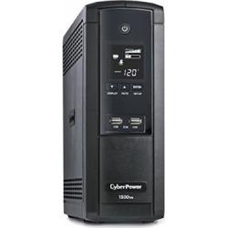 cyberpower brg1500avrlcd intelligent lcd ups system 1500va900w 12 outlets - CyberPower BRG1500AVRLCD Intelligent LCD UPS System, 1500VA/900W, 12 Outlets, AVR, Mini-Tower, 5-Year Warranty