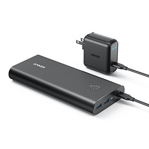 Anker PowerCore+ 26800 PD with 30W Power Delivery Charger, Portable Charger Bundle for iPhone X/8, Nexus 5 X 6P, LG G5 & USB Type-C Laptops (e.g. 2016 MacBook) Power Delivery Support