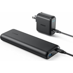 Anker PowerCore Speed 20000 PD, 20100mAh Portable Charger & 30W Power Delivery Wall Charger Bundle, Input & Output Type C Power Bank for Nexus 5 X 6P, LG G5, iPhone 8/X and Macbooks