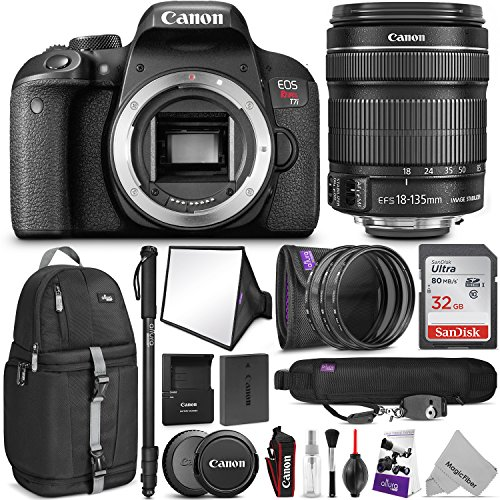canon eos rebel t7i dslr camera with 18 135mm lens wadvanced photo and - Canon EOS Rebel T7i DSLR Camera with 18-135mm Lens w/Advanced Photo and Travel Bundle