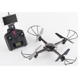Propel Quantum Drone + Fpv 2.4Ghz Quadcopter with Live Video Streaming, Black