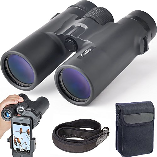 gosky 10x42 binoculars for adults compact hd professional binoculars for - Gosky 10x42 Binoculars for Adults, Compact HD Professional Binoculars for Bird Watching Travel Stargazing Hunting Concerts Sports-BAK4 Prism FMC Lens-With Phone Mount Strap Carrying Bag