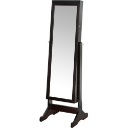 richards standing jewelry armoire led light brown - Richards Standing Jewelry Armoire & LED Light, Brown