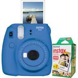 fujifilm instax mini 9 instant camera bundle blue - Fujifilm Instax Mini 9 Instant Camera Bundle, Blue