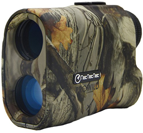 TecTecTec ProWild Hunting Rangefinder – 6×24 Laser Range Finder for Hunting with Speed, Scan and Normal measurements (Camo)