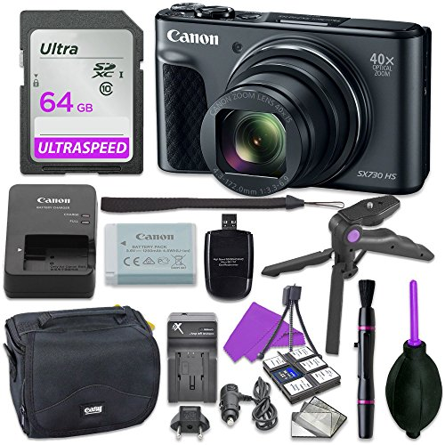 canon powershot sx730 point shoot digital camera bundle w tripod hand grip - Canon Powershot SX730 Point & Shoot Digital Camera Bundle w/ Tripod Hand Grip , 64GB SD Memory , Case and More