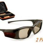 epson compatible 3active 3d glasses rechargeable twin pack 150x150 - Certified International Snowman Sleigh 3D Platter, Multicolor