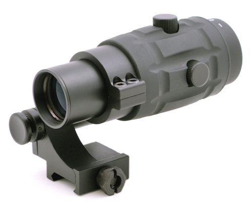 TMS Tactical 3x Magnifier Scope with Quick Flip to Side FTS Mount 36mm Center Height for Red Dot Sights and EOTech Sights